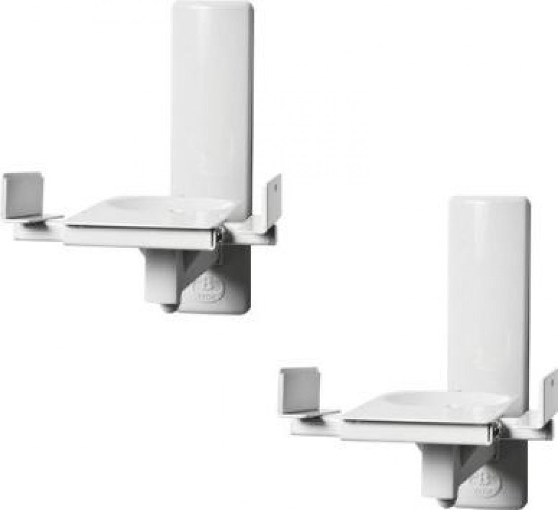 Ultragrip ProTM Side Clamping Loudspeaker Wall Mounts with Tilt and Swivel B-Tech BT77 Finished in White