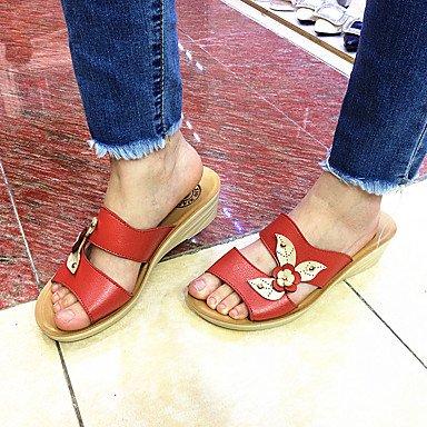LFNLYX 2016 Junta Coreana casual Zapatillas de cuero remache zapatos de suela de goma de parquet Red