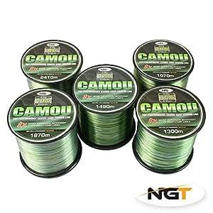 Ngt camo line 1870m 10lb test superbraid for Amazon fishing line