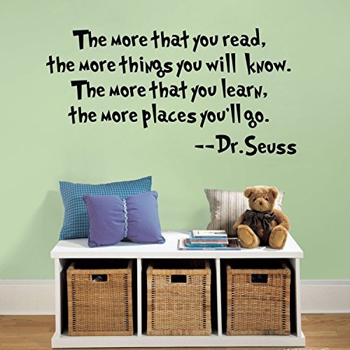 Dr. Seuss Classroom Wall Quote Vinyl Kids Decoration Decor