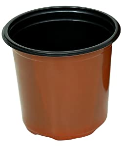 SARO GARDENING TF FLOWER POTS 7 Inch, 25 Pcs Brown