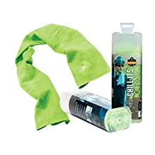 Ergodyne Chill-Its 6602 Evaporative Cooling Towel, Lime
