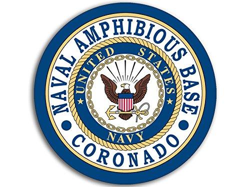 American Vinyl Round Naval Amphibious Base Coronado Seal Sticker (Logo Navy ca)