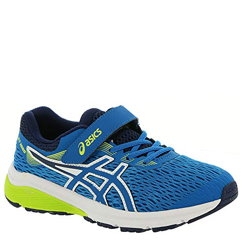 (ASICS Kids Baby Boy's GT-1000 7 (Toddler/Little Kid) Race Blue/Neon Lime 2 M US Little Kid M)