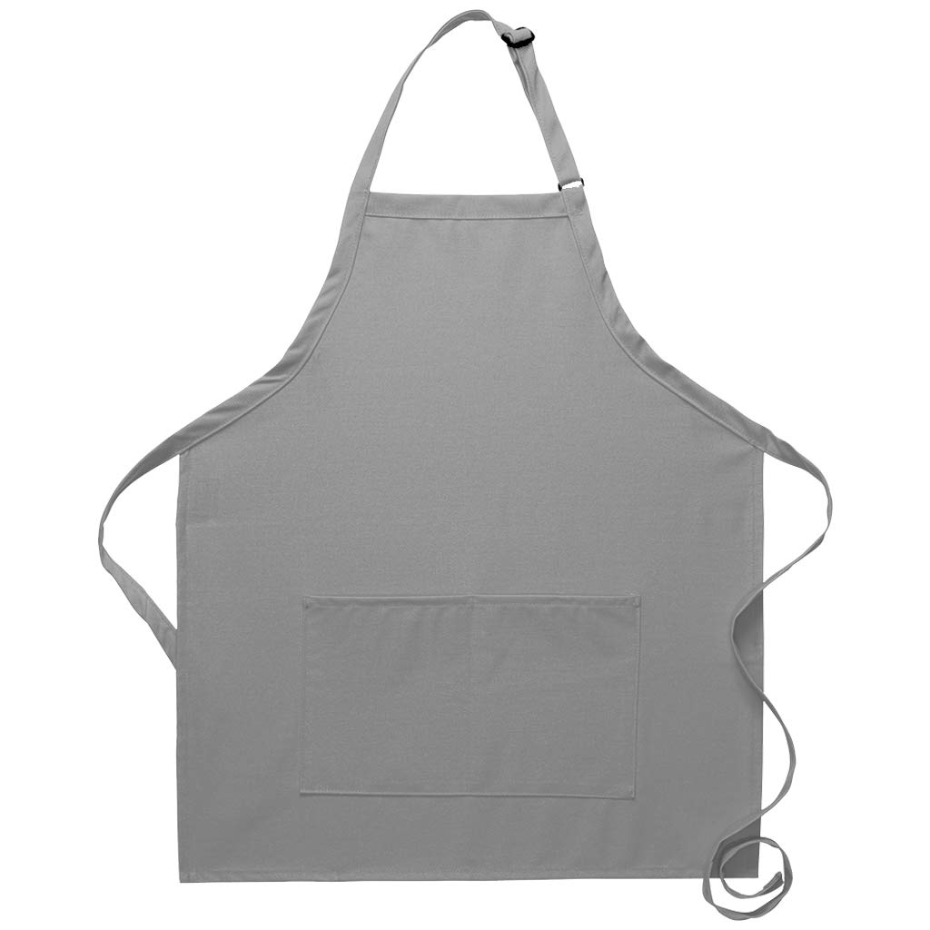 DayStar Apparel 212 Bib Apron w//Center Divided Pocket