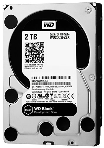 WD Black 2TB Performance Desktop Hard Disk Drive - 7200 RPM SATA 6 Gb/s 64MB Cache 3.5 Inch  - WD2003FZEX from Western Digital