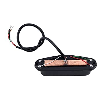 amazon com ammoon dual hot rail single coil humbucker pickup 4 wire rh amazon com Bass Pickup Wiring Diagrams Pickup Wiring Diagram