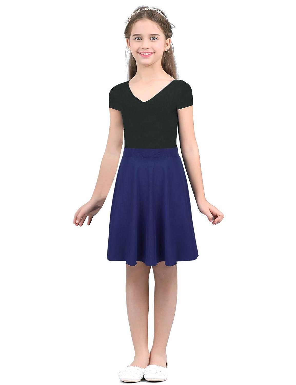 iixpin Falda Escocesa Niñas Skirt de Patinadora Baile Falda A-Line ...