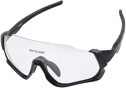 Hamkaw - Gafas de sol para ciclismo inteligentes, lentes fotocromáticas polarizadas UV400 con montura de miopía para hombres y mujeres al aire libre, pesca, golf, playa, béisbol, equitación, deportes: Amazon.es: Hogar