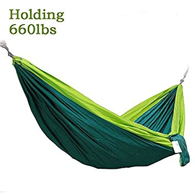 2 Person(Holding 660lbs) Travel Portable Hammock for Father's Day