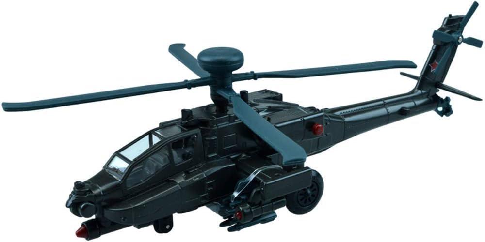 1yess Helicóptero Militar Modelo, Escala 1/64 Estadounidense Boeing AH-64 Apache Modelo, Electro-óptico Volver, Juguetes de los coleccionables y niños