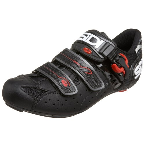 SIDI Genius 5 Pro Carbon Cycling Shoe,Black/Black,41 M EU (US Men's 7.5 M/US Women's 8.75 M)