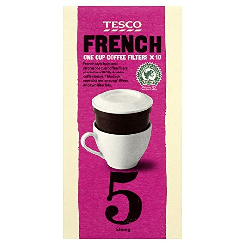 Tesco French One Cup Filters Coffee 10 Pack 75g Amazonco