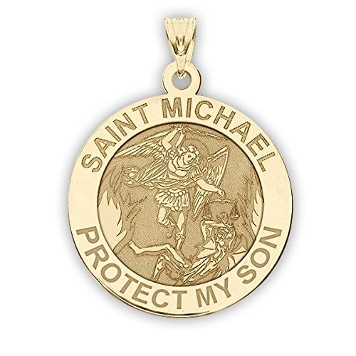 Saint Michael Protect My Son Religious Medal
