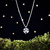 Sterling Silver Four Leaf Clover - Lucky Charm - (Pendant or Necklace)