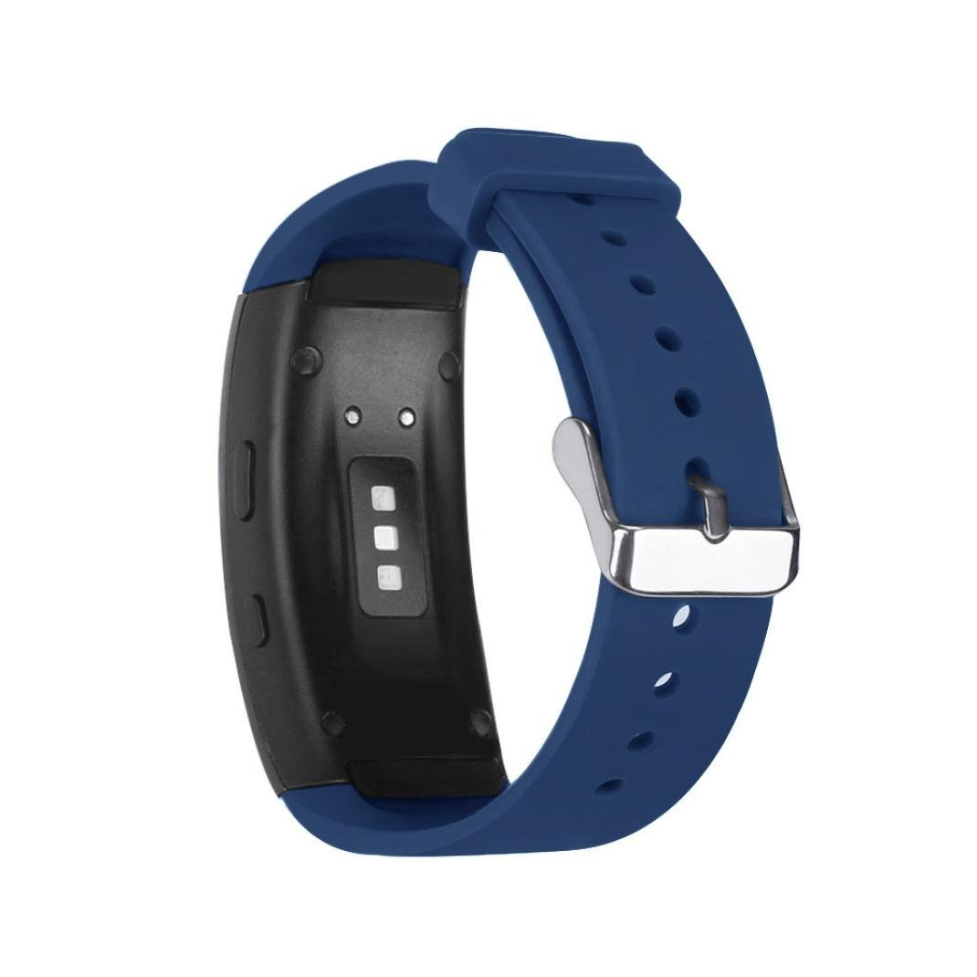 Alonea For Samsung Gear Fit2 Pro Fitness, Sports Silicone Watch Replacement Band Strap (Blue)