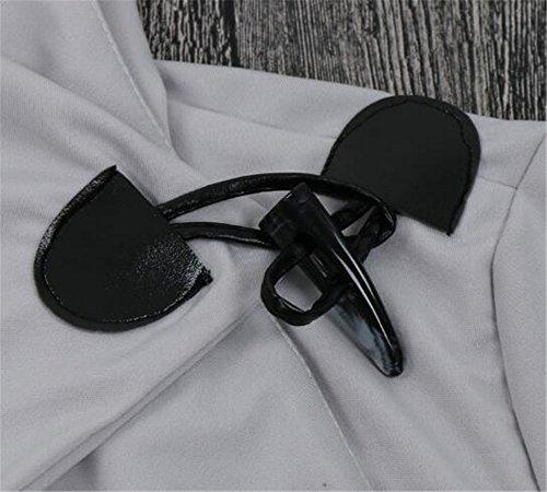 Cappotti Donna Bottone Tayaho Semplice Jacket Ufficio Cappotto Con Lungo Lunga Grey Sciolto Puro Giacche Manica Colore Giacca Cappotto Irregolare xwZqSCw