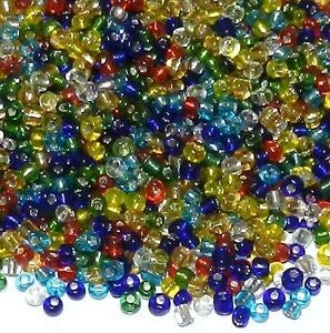SBL18 Assorted Color Mix Silver Lined 6/0 4mm Glass Seed Bead 4oz Making Beading Beaded Necklaces Yoga Bracelets