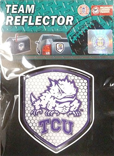 TCU Horned Frogs PV Shield Reflector Emblem Decal Texas Christian University