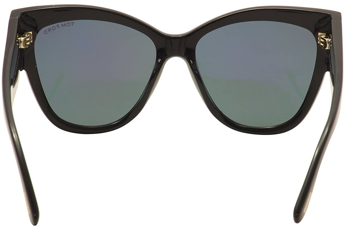 acd9d192fa Sunglasses Tom Ford FT 0371 Anoushka 01Z shiny black gradient or mirror  violet at Amazon Women s Clothing store