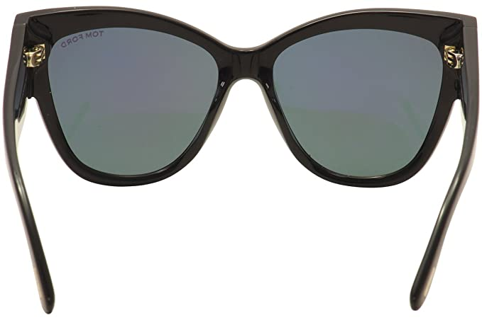 521b1c8df4 Sunglasses Tom Ford FT 0371 Anoushka 01Z shiny black gradient or mirror  violet at Amazon Women s Clothing store