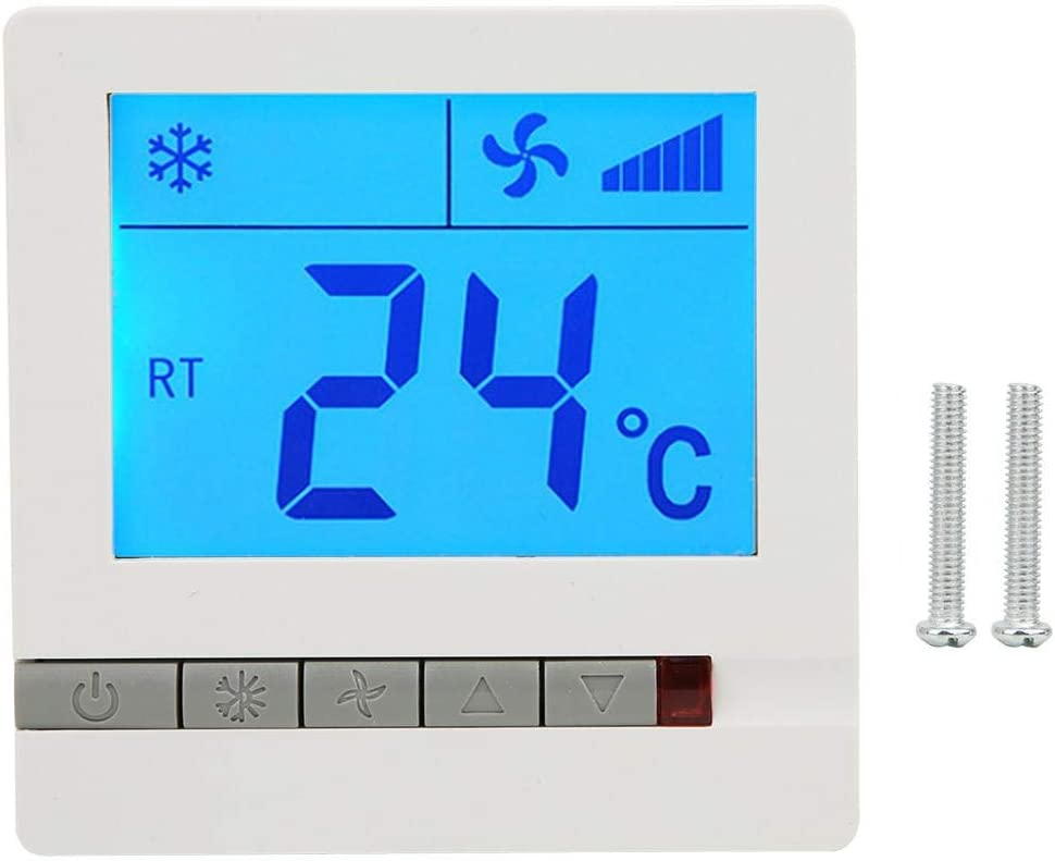Digital Thermostat With Lcd Display, Heating Thermostat Compatible With Fan Coil Unit, Electric Valve, Gas/Oil System