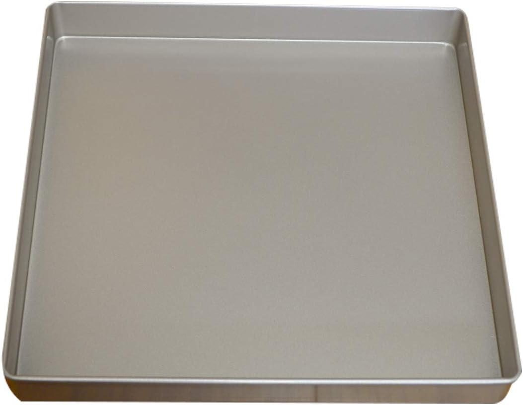 Nonstick Square Baking Pan, 11x11 Inch Carbon Steel Cake Baking Sheet, Cookies Bakeware for Oven Baking Gold