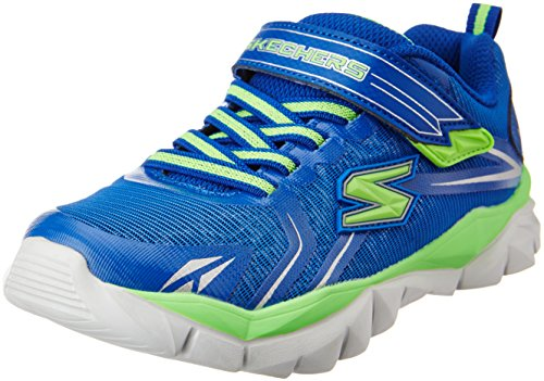 Skechers Kids Electronz Blazar Sneaker (Little Kid/Big Kid),Blue/Lime,2 M US Little Kid