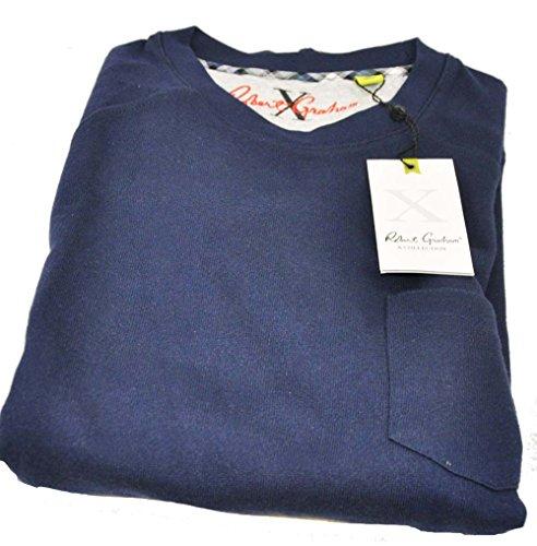 robert-graham-mens-medium-navy-long-sleeve-crew-neck-pullover-sweater
