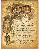 Alice in Wonderland - Alice Speaks to Cheshire Cat - 11x14 Unframed Alice in Wonderland Print