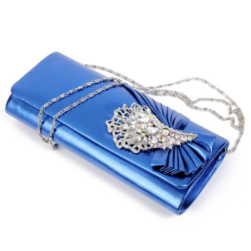 Damara - Bolso al hombro para mujer large azul - azul