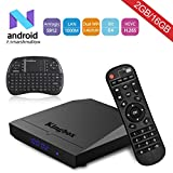 Kingbox K3 Android 7.1 TV Box Amlogic S912 Octa-Core 64 Bits 2GB/16GB support Dual WiFi 2.4+5GHz/4K UHD/BT 4.0/1000M LAN Android Smart TV Box, Free Mini Keyboard [Top Configuration]