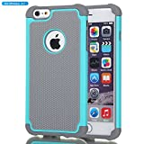 Iphone 6 Case Best Deals - iPhone 6 Case,Gogoing Impact Resistant Double Layer Shockproof Hard Shell Case for Apple iPhone 6 4.7 Inch (Teal)