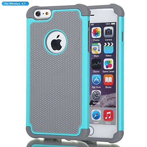 iPhone 6 Case,Gogoing Impact Resistant Double Layer Shockproof Hard Shell Case for Apple iPhone 6 4.7 Inch (Teal)