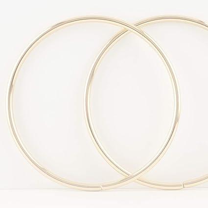 Asas para bolso de mano de hierro circulares y redondas de 15 cm, asas de