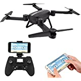 Veoker Drone RC Quadcopter Altitude Hold Headless RTF 3D 360 Degree FPV VIDEO WIFI 720P HD Camera 6 axis 4CH 2.4Ghz Height Hold Easy Fly Steady for learning, Black