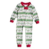 Xinvision Christmas Matching Family Pajamas Suit Jumpsuit One-Piece Sleepwear