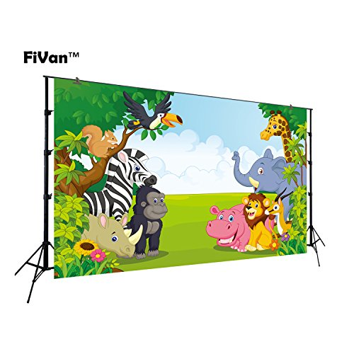 Jungle Safari Party Backdrop Kids Baby Shower Photo Background Photo Studio Photography Props Children Birthday Banner Photo Booth Newborn Pictures FT-6521 for $<!--$14.00-->