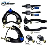 DLZ 8 Pcs Front Suspension Kit-2 Upper Control Arm & Ball Joint Assembly, 2 Lower Ball Joint, 2 Inner 2 Outer Tie Rod End for 1988 1989 1990 1991 Honda CRX/Honda Civic