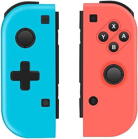 QULLOO Mando Nintendo Switch Wireless Controller Gamepad Bluetooth Joystick Controlador Función de DualShock y Turbo -Mando Set, Color Izquierda Azul Y Derecha Rojo (No originales Mando Joycon Set): Amazon.es: Videojuegos
