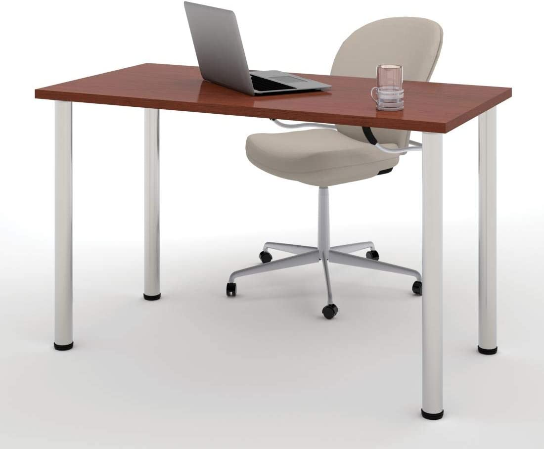 Bestar 24 x 48 Table Desk with Round Metal Legs – Universel