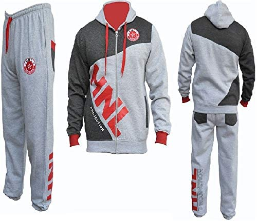 HNL Projection Boys Girls Tracksuit Hooded TOP Bottoms Zipped TOP Kids Jogging Suits Age 5-6 7-8 9-10 11-12 13-14 Years Main