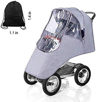 winddicht Regenschutz f/ür Kinderwagen wasserdicht