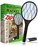 Best Handheld Bug Zappers - White Kaiman Electric Fly Swatter Racket w/Detachable Flashlight Review