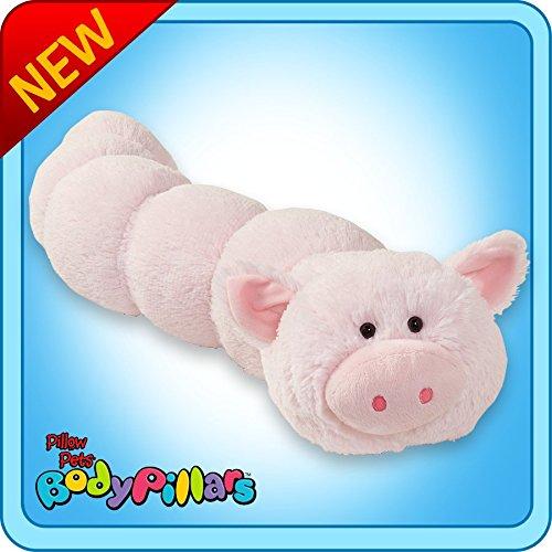 Pillow Pets Pig Body Pillar - Squiggly Pig Stuffed Animal Plush Body Pillow ()