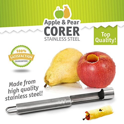 Pear Corer (Delightly Apple Pear Corer Stainless Steel Durable Dishwasher Safe)