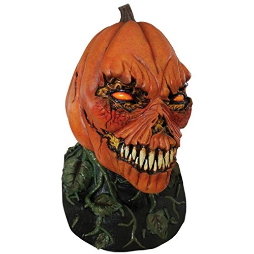 Ghoulish Productions Possesed Pumpkin Adult Mask Evil Pumpkin Jack O Lantern Halloween Scary Spooky -