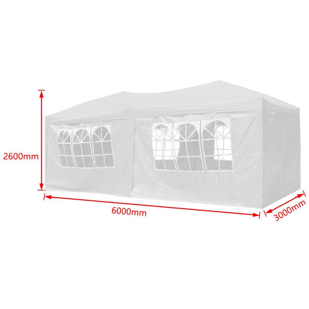 Froadp Faltpavillon 3x3m mit 4 Seitenteilen Partyzelt Sonnenschutz Pavillon UV-Schutz Wasserdicht Festzelt f/ür Garten Party Hochzeit Picknick Anthrazit