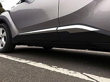 Embellecedor cromado de plástico ABS para puertas de coche, 4 unidades: Amazon.es: Coche y moto