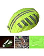 Bicycle Helmet Rain Cover With Reflective Strip,High Visibility Reflective Cycling Helmet Rain Cover Waterproof Road Mountain Bike Helmet Cover Dustproof-One Size Fits All